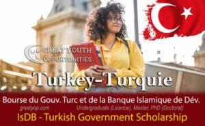 IsDB-Türkiye Scholarships International Joint Scholarship Program