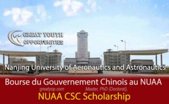 Chinese Government Scholarship at Nanjing University of Aeronautics and Astronautics