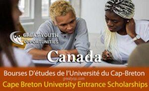Cape Breton University Entrance Scholarships for International Students