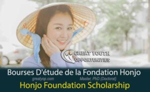 Honjo Foundation Scholarship To Study in Japan