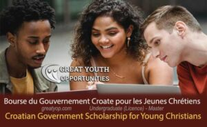 Croatian Government Scholarship for Young Christians