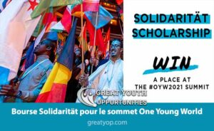 Solidarität Scholarship for One Young World Summit