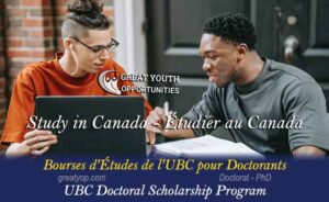 UBC Four Year Doctoral Fellowship (4YF) program