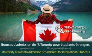 University of Toronto Admission Scholarships for International Students