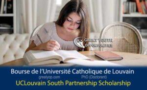 UCLouvain South Partnership Scholarship