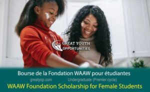 WAAW Foundation Scholarship for Females Students